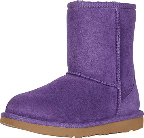 UGG Unisex K Classic II Fashion Boot, Violet Bloom, 4 M US Big Kid