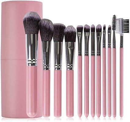 Juego de 12 brochas de maquillaje con estuche: Amazon.es: Belleza