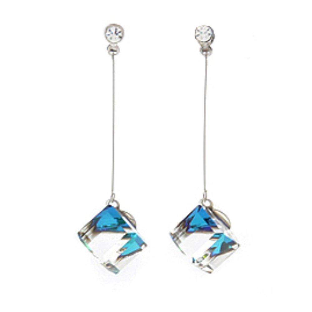 Cube Swarovski Element Drop Earrings Crystal Dangle earrings