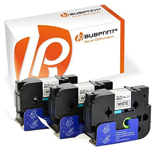 bubprint 3x Volume de polices Compatible pour Brother TZE251 TZe-251 24mm LOT kein Brother Original