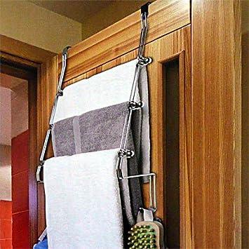 Neu Tür-Handtuchhalter mit 3 Stangen Türgarderobe mit 3 Stangen aus  KD05