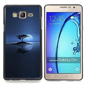 """Qstar Arte & diseño plástico duro Fundas Cover Cubre Hard Case Cover para Samsung Galaxy On7 O7 (Solitaria Moon Lake"""")"""