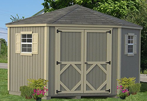Little Cottage Company Classic Five Corner Shed DIY Playhouse Kit, 10' x (Diy Outdoor Shed)