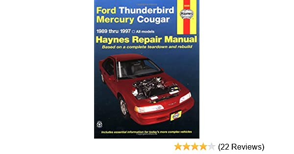 Ford thunderbird mercury cougar 8997 haynes repair manuals ford thunderbird mercury cougar 8997 haynes repair manuals haynes 0038345017254 amazon books fandeluxe Image collections