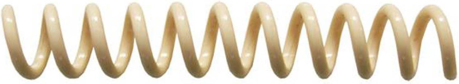 pk of 100 PMS 467 C 4:1 Tan 9//32 x 15-inch Legal Spiral Binding Coils 7mm