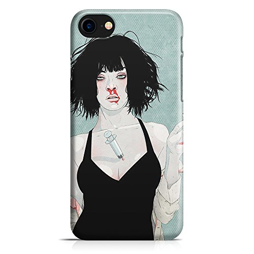 Cover Custodia Protettiva Case Pulp Fiction Uma Thurman Droga Film Tarantino Drugs per Iphone 7 - Iphone 7 Plus -Iphone 8 - Iphone 8 Plus - Iphone X