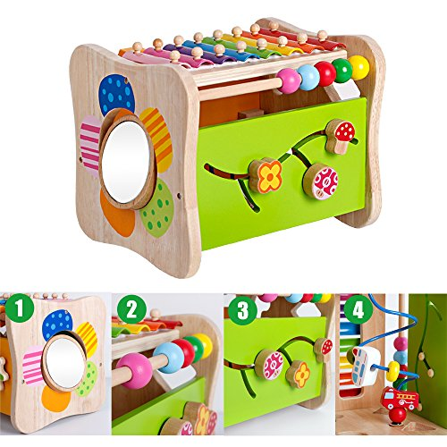 Life&Fun Kids Initiation Musical Toy Wooden 3 in 1 Multifunctional Music Toys Pound & Tap Xylophone Color&Tones Colorful Keys with Mallets by Life&Fun (Image #3)