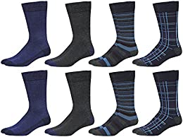 Men's 8-Pack Athletic Reinforced Crew Socks