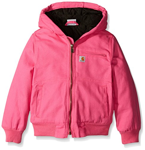 Carhartt Little Girls' Wildwood Jacket Quilt Lined, Raspberry Rose, X-Small/6