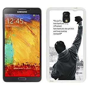 Beautiful And Unique Designed Case For Samsung Galaxy Note 3 N900A N900V N900P N900T With Rocky Balboa Motivational Words (2) Phone Case