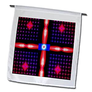 Jos Fauxtographee Abstract - Shapes Made with Light Painting in Pink, Red, Orange, Blue and Purple - 18 x 27 inch Garden Flag (fl_55814_2)