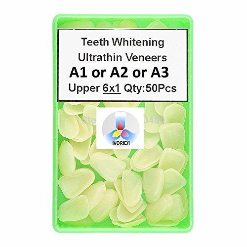 IVORIE Ultra Thin Whitening Veneers Resin Teeth ANTERIOR 50PCS (Shade A1 UPPER)