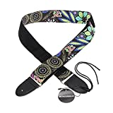 Foxpic Guitar Strap for Acoustic and Electric Instruments with Pick Holder