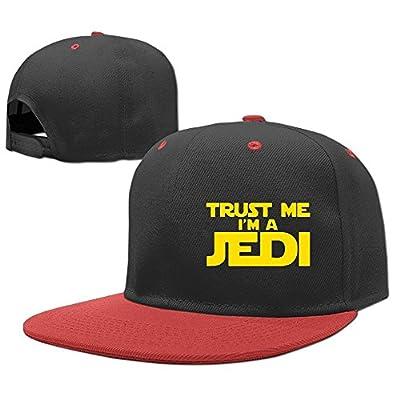 PeaceTown Trust Me Im A Jedi Solid Flat Bill Snapback Baseball Cap Hip Hop Unisex Custom Hat.