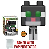Funko 8-Bit Pop! Games: Minecraft - Tuxedo Cat CHASE Variant Limited Edition Vinyl Figure (Bundled with Pop BOX PROTECTOR CASE)