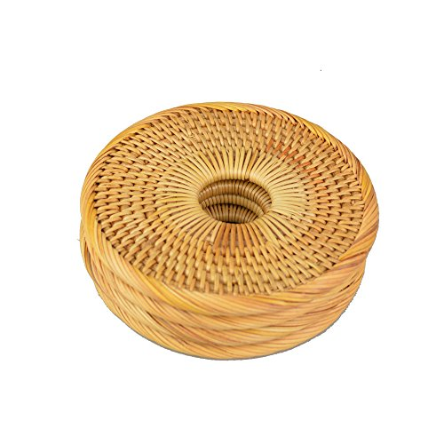 Handmade Round Rattan Coaster Rustic Style Cupmat for Drinks,Coffee,Restaurant and Table(4Packs, 5.2'') by Generic (Image #2)