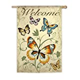 Elegant Butterfly Welcome Flag (Regular Size) Review