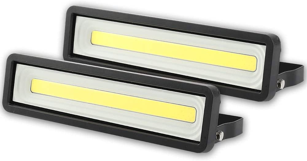 Lote de 2 Focos LED exteriores 50W 4000LM, Potente LED para exteriores IP66, Luz de seguridad blanca fría 5000K para terraza, Jardín, Patio, Parque, Garaje [Clase de eficiencia energética A +]