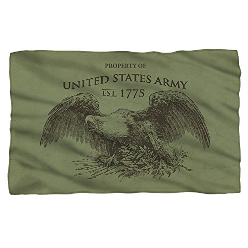 Property Of -- U.S. Army -- Fleece Throw Blanket (Army Fleece Throw)