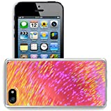 Luxlady Apple iPhone 5/5S Clear case Soft TPU Rubber Silicone Bumper Snap Cases iPhone5/5S IMAGE ID 27742653 Purple Gold Speed Color Background and Abstract Art Screensaver Wallpaper