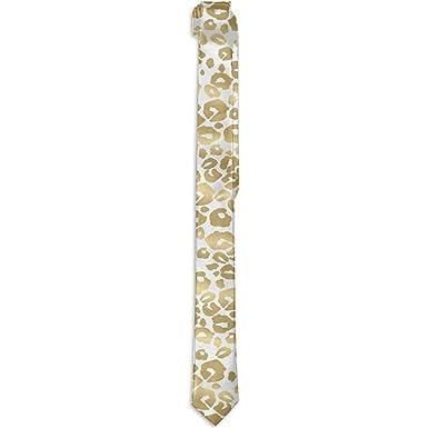 Shine Leopard Men s Fashion Corbata Corbata de impresión de lujo ...