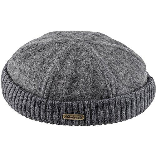 - Sterkowski Wool Beanie Docker Cap US 7 5/8 Gray
