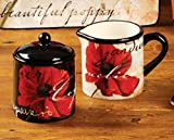 Midnight Poppies Sugar & Creamer By Color Bakery - Certified International Dinnerware