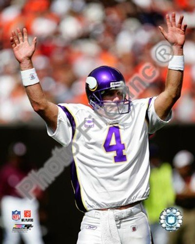 Brett Favre 2009 Celebration - 8x10 Inches - Art Print - Poster Favre Wall Brett
