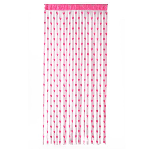 Heart Tassel String Door Curtain Door Hanging - Fuchsia Generic