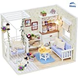 Kisoy Romantic and Cute Dollhouse Miniature DIY House Kit Creative Room Perfect DIY Gift for Friends,Lovers and Families(Kitty's Choice)