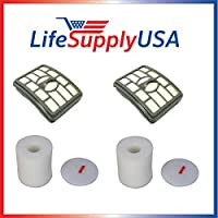 2 Pk Complete Filter Kit fits Shark Rotator Pro Lift-Away NV500 HEPA Filter & Foam Filter Kit, Compare to Part # XHF500 & XFF500 By LifeSupplyUSA