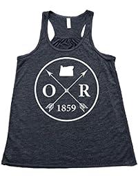 Women's Oregon Arrow Flowy Tank Top