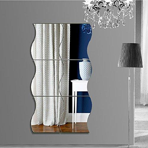 Specchi Moderni Senza Cornice.Garwarm 3d Fashion Moderno Creativo Rimovibile Decorativo