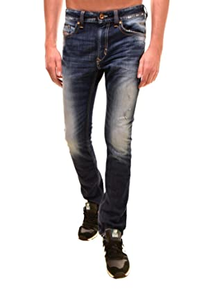 222a6ad3 Amazon.com: Diesel Mens Thavar 00CKS1 Jeans Slim Skinny 0R10L Blue ...