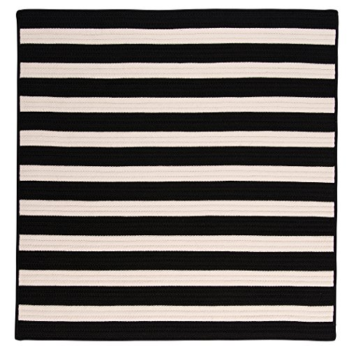Stripe It Square Rug, 6-Feet, Black White
