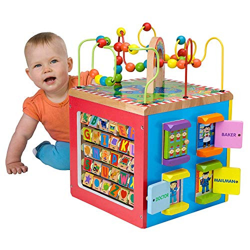 Alex Jr. Jungle Fun Activity Cart, My Busy Town Wooden Activity Cube and Count N Spin Abacus Robot, Playset, Alphabet, Matching, Sensory, Math, Counting, Numbers, Colors, Early Learning, Educational by ALEX Jr. Toys (Image #5)