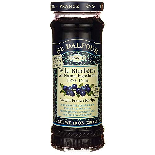 St Dalfour All Natural Wild Blueberry Fruit Preserves, 225ml, 284g
