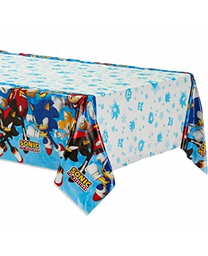 Amscan Sega Sonic The Hedgehog Plastic Table Cover, Party Favor