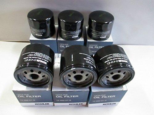 KOHLER 12 050 01-S Engine Oil Filter For CH18 - CH25 And CV18 - CV25- 6 pack (Kohler Engine Filter)