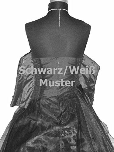 34 Ballkleid A2013 Langes Kleid Christine amp; Gr Abendkleid weiss Taft JuJu Cocktailkleid FWq8ZYwPax