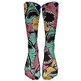 Unisex Angry Shark Sea Life Novelty Knee-high Long Socks