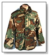 M-65 Woodland Camo Cold Weather Field Jacket Small Short Chest 36