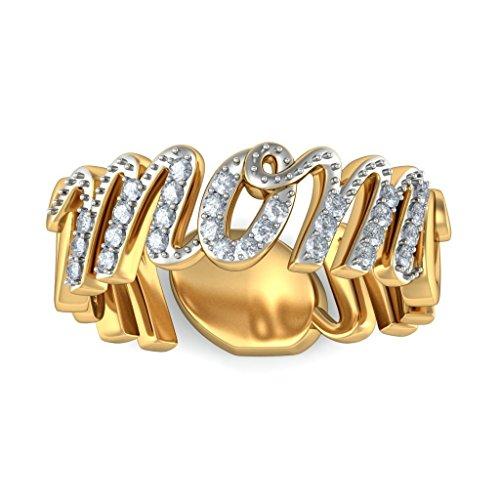 14K Or jaune, 0,22carat Diamant Taille ronde (IJ | SI) Mom en diamant