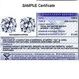 IGI Certified 1ct TW Round Diamond Stud Earrings set in 14K White Gold with Screw Backs
