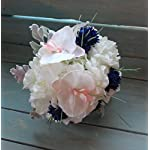 Round-Bridesmaids-Bouquet-in-Blush-Pink-orchids-with-white-Hydrangeas-and-blue-cornflowers