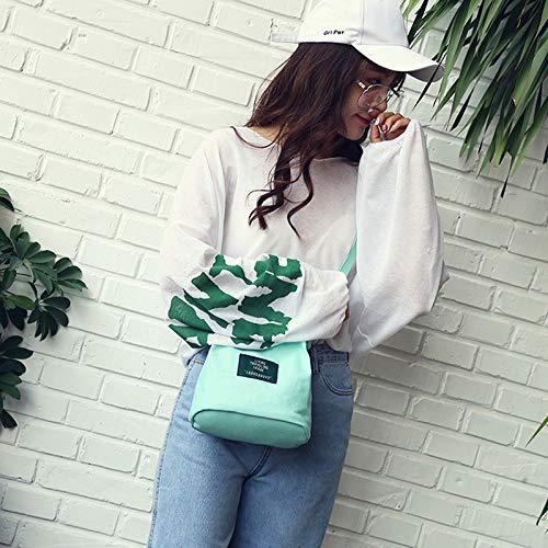 Tracolla Capacità Outtybrave Rosa Taglia Borsa Unica Bag Lady Green Ragazza Light Tote Grande A Per Shopping Tela Tela Borsetta Multiuso Donne 18qYxw8Sr