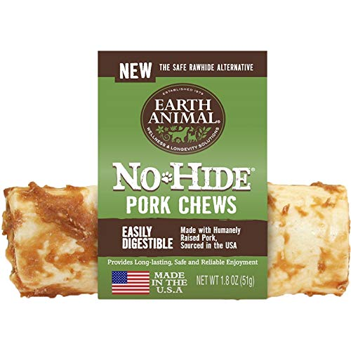 Earth Animal Case of 24 No-Hide Pork Chews, 4-Inch