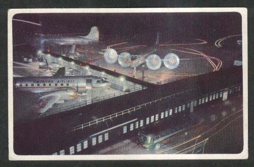 American Airlines DC-6 & Convair Flagships air mail postcard 1940s ()