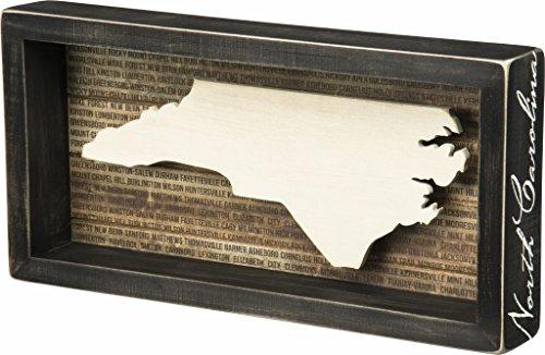 North Carolina State Shape Box Sign Primitives by Kathy
