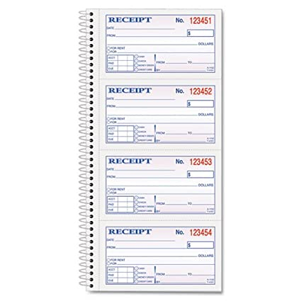 tops products tops moneyrent receipt spiral book 2 3